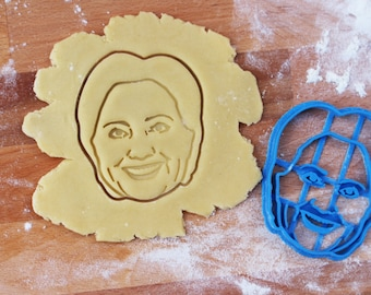 Hillary Clinton cookie cutter and fondant cutter for Hillary Clinton cookies / fondant cutter // cookie stamp / personalized cookie cutter