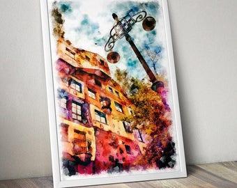 Wall Art Print. Vienna photography, architecture, decor, travel photography,