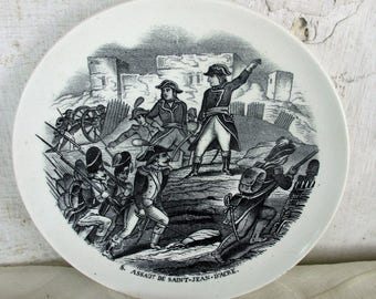 Small Collector Cabinet Wall Plate Napoleon Bonaparte Assault St Maastricht HTF