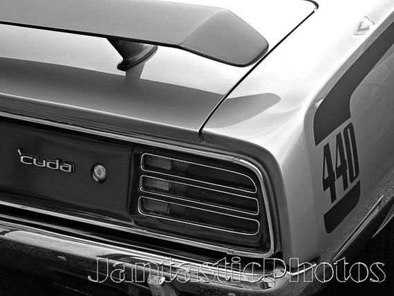 Ordinaire Barracuda 440 Photograph 1970 Plymouth Cuda Muscle Car Instant Download  Photo Emblem Tail Light Photography Black And White Automobile Art