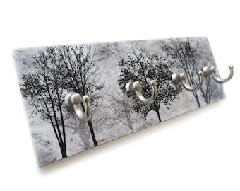 Black and Gray Tree key Hook for Wall, Entryway Hooks, Key Hanger Hooks, Tree Wall Hooks, Key Holder, Key Rack,   (10)