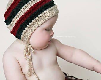 Sitter Bonnet Pattern Sitter Knit Pattern Photo Prop Pattern Sitter Hat Pattern Baby Bonnet Pattern Knit Photo Prop Declan Bonnet Lily B's