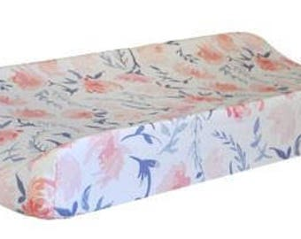 Changing Pad Cover | Floral Rosewater in Peach