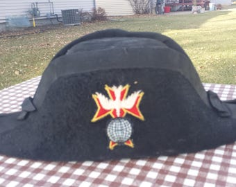 Antique Vintage Knights Of Columbus K Of C Lynch & Kelly Co. Hat