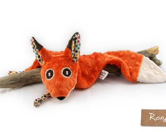 Fox blankie - Stuffed Animal - Baby Shower Gift - Baby gift - Fox plush - Fox security blanket