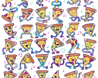 Pizza Party Print