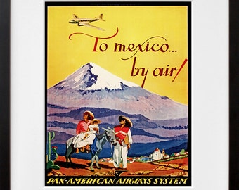 Mexico Travel Art Print Vintage Home Decor Poster (ZT148)
