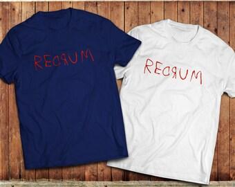 Redrum the Shining T-Shirt, Stephen King, Stanley Kubrick, Horror movie shirt.
