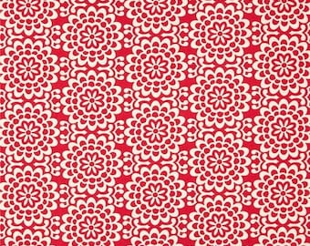 1 yard - Wallflower in poppy, True color collection by Amy Butler