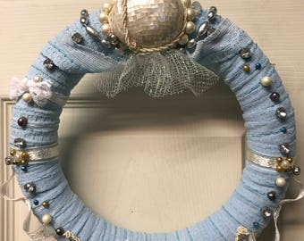 MOTHER OF PEARL...a handmade wreath you will treasure!