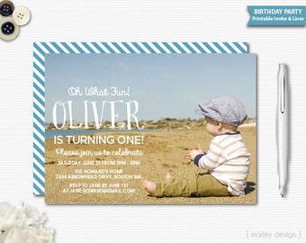 Birthday Invitation Digital Invitation Printable Invitation Photo Invitation Photo Birthday Invite Photo Card Announcement Picture Invite