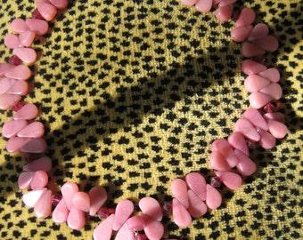 Rhodonite tear drop necklace