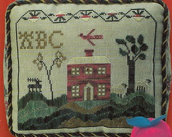 Red House Sampler by Workbasket Counted Cross Stitch Pattern/Chart