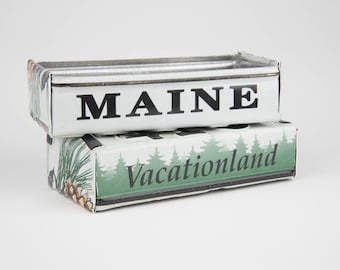 Maine license plate box - father's day gift -  gift for mom's dad's and grad's - teacher gift - graduation gift - graduation gift box