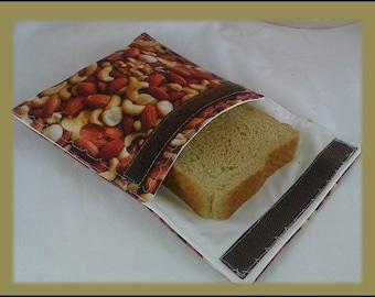 Sandwich Bag / Ecological Bag / Snack Bag / Snack Bag / Reusable Bag / Zero Waste / MOTIF:  MOOSE