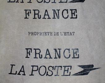 Vintage French Postal Mail Bag/Sac -  LA POSTE FRANCE Propriete De L'Etat - Deren 76360 Barentin