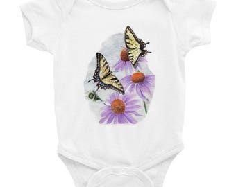 Tiger Swallowtail Butterflies on Infant Bodysuit