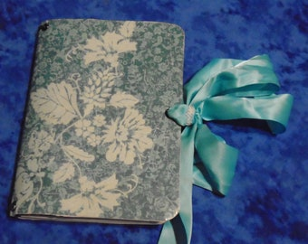 Blue Floral Travelers Notebook - Blue TN - Travelers Notebook