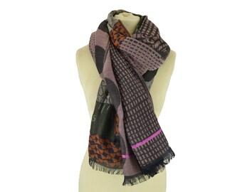 Fleur Wax old pink - Woman's scarf - La Tribu des Oiseaux