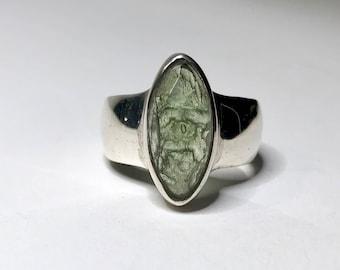 Cosmic Moldavite Ring US 6
