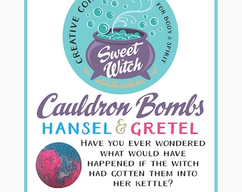 Cauldron Bombs (bath bombs) Hansel & Gretel