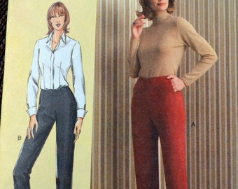 UNCUT Sewing Pattern Vogue 7940 Misses' Tapered Pants Waist 26-30 inches Uncut Complete
