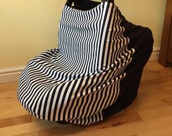 Baby car seat cover, nursing blanket, breast feeding cover, Trolley cover, 3-in-1, nursing cover, multi purpose cover, blanket.