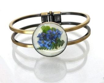 Forget-Me-Not Cuff Bracelet, Outlander Bracelet, Outlander Jewelry caregiver gift Alzheimer's Outlander Gift Under 25 Celtic bracelet