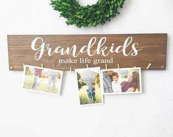 Grandkids make life grand sign - Grandkids sign - Grandparents gift  - Mothers day gift - Grandparents sign- Christmas gift
