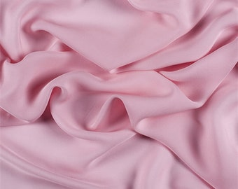 Bubble Gum Silk Double Georgette, Fabric By The Yard