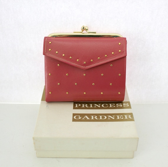 Vintage Princess Gardner Pink Leather Wallet, NOS French Purse, Coin Purse in Box