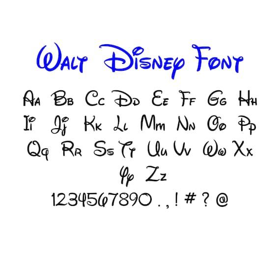 Walt disney font svg dxf walt disney alphabet walt disney letter da tkvgraphicdesigner su etsy - Lettre disney ...