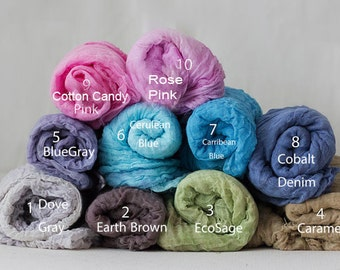 "5 feet long 24 colors -Cotton Gauze Swaddle Blanket/ Newborn Photo Prop 60""  Cheesecloth Wraps/ Photo Prop/Newborn Photography/ Newborn Wrap"