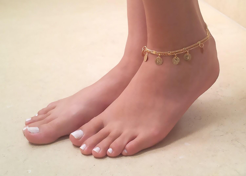 Gold Coin Anklet Anklet Bracelet Gold Anklet Ankle