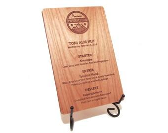 Wooden Menus - Wedding Menus - Rustic Wood Table Menus
