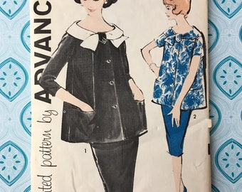 "Maternity Advance Pattern 9576 / Size 12 / 32"" Bust / 25"" Waist / 34"" Waist"