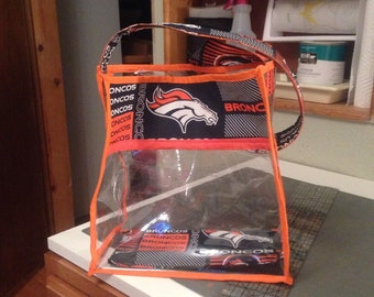 Denver Bronco's Clear Stadium bag