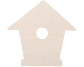 Unfinished Wooden Birdhouse Cutouts - 5 pieces