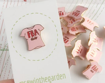 Pink FBA club enamel pin badge - sewing seamstress sewer enamel pin brooch