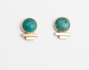 Piper Earrings in Chrysocolla