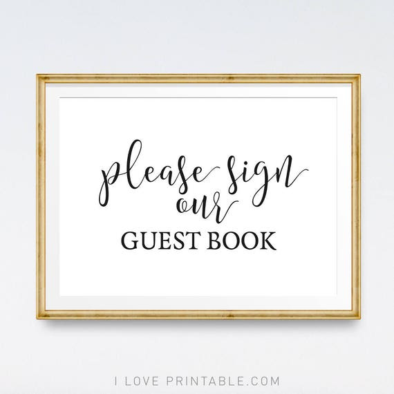 Wedding Photo Book Quotes: Wedding Guestbook Sign Printable Signs Please Sign Our