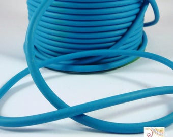 1 m (fil66) 4mm turquoise rubber cord