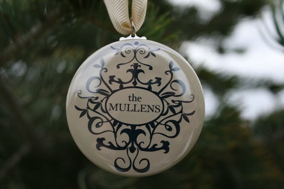 Items similar to Personalized Christmas Ornament - wedding gift ...