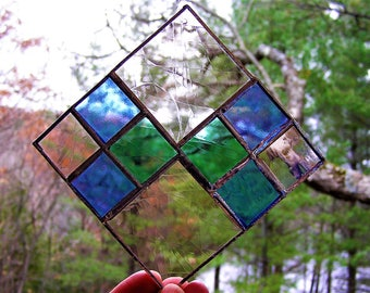 Stained Glass Sun Catcher, Window Decor, Christmas Gift, Stained Glass Panel