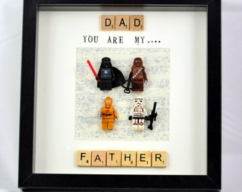 Star Wars Personalised Frame - Daddy you are my Father - Father's Day- Special Gift- star wars gift- special words