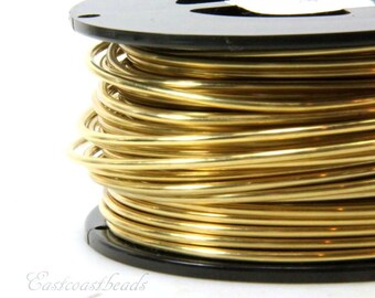 Jeweler Brass Wire, 12 Gauge, Round Dead Soft, Solid Yellow Brass Wire, Jewelry Quality Brass, Wire Wrapping, Sold in 10 Ft. Length, 014