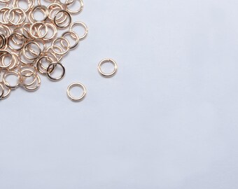 5 Grams (195pcs Approx) 4mm Rose Gold Plated Stainless Steel Jump Rings, 0.6mm x 4mm, 23 Gauge Open Rings #SD-S8347
