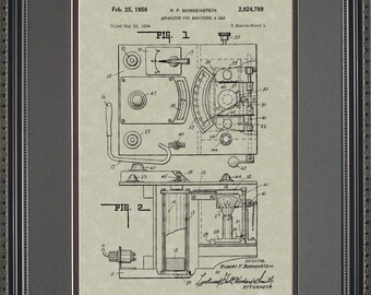 Breathalyzer Patent Art Policeman Police Detective Officer Gift Wall Art B4789