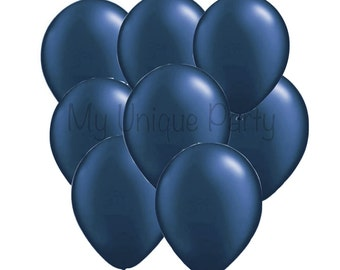 Navy Blue Balloons 11 inch Balloons Photo Props Weddings Birthdays Bridal Shower Baby Shower