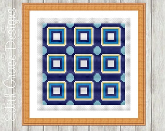 Cross Stitch Pattern - Geometric Art - Portuguese Tile - Folk Art - Modern Cross Stitch Pattern - Embroidery Design - Geometric Pattern